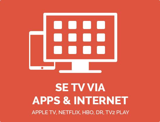 Se TV Via Apps Og Internet
